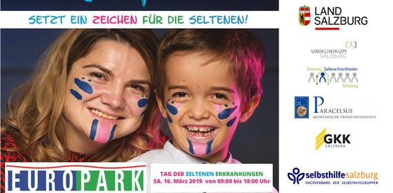 Tag der seltenen Erkrankungen - Gemeinsamer Aktionstag im Europark am Samstag 16. März 2019