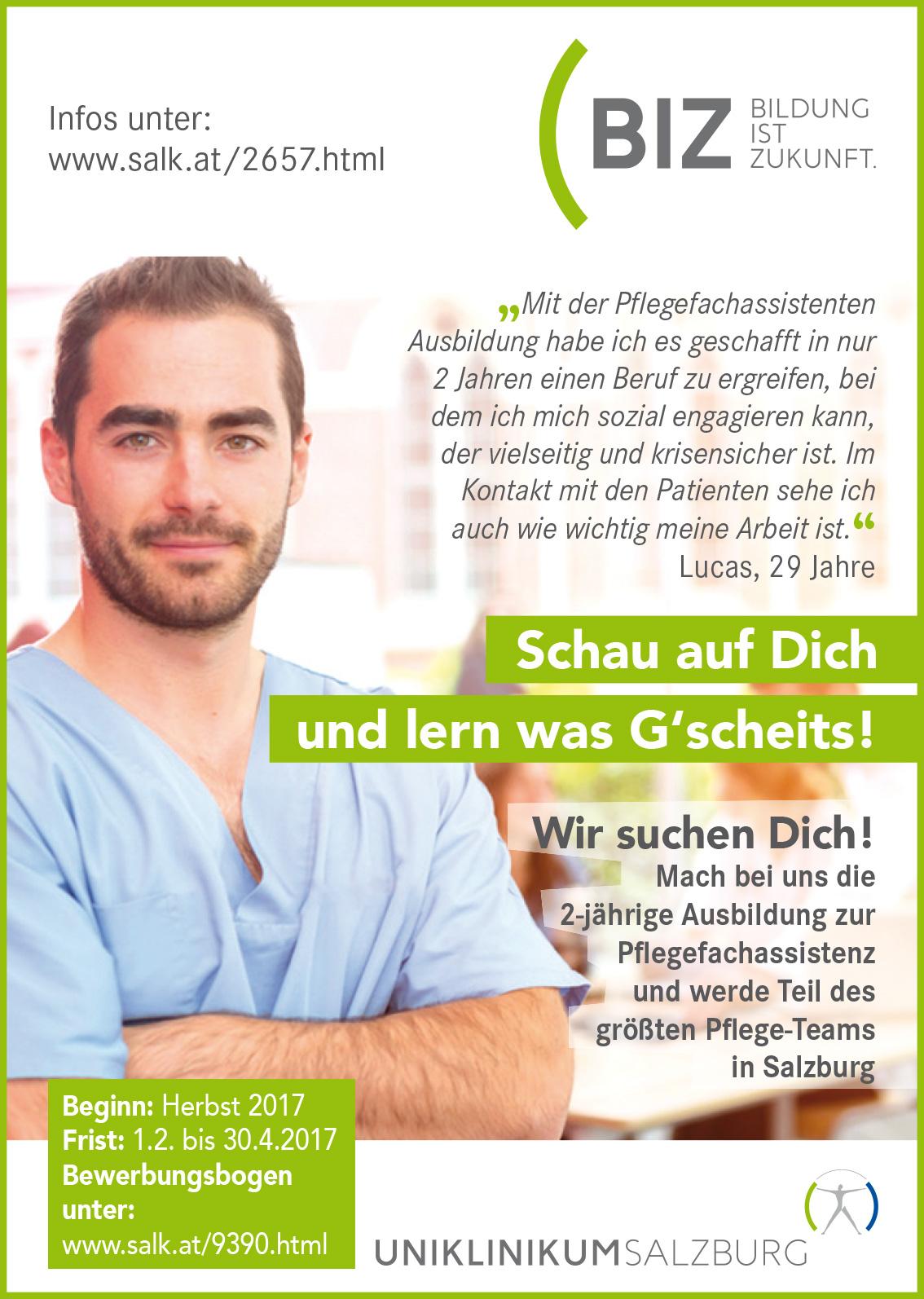 Neue Chancen für den Pflegeberuf - Salzburger Landeskliniken (SALK)